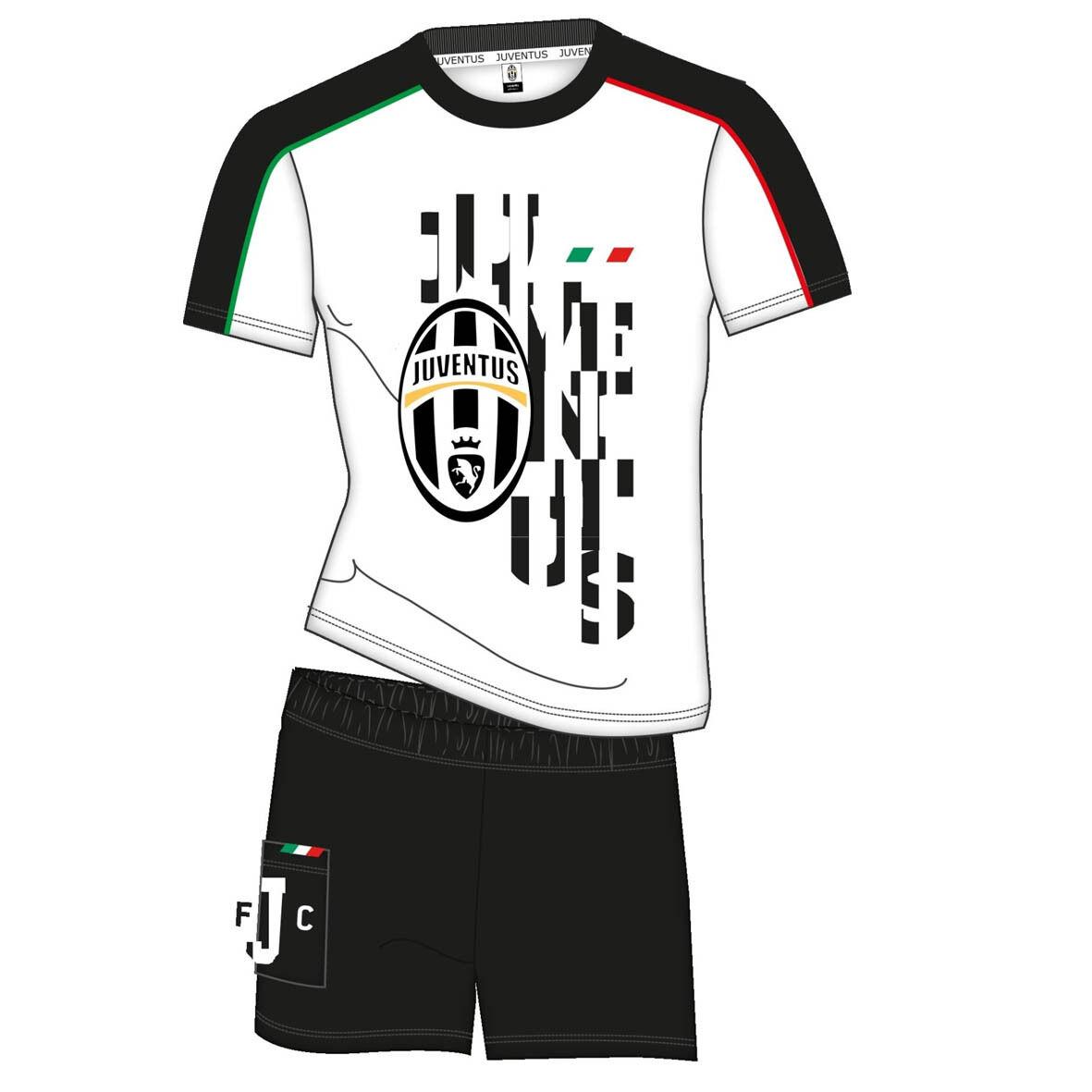 JUVENTUS pigiama corto 2 pezzi bianco in jersey varie taglie prodotto ufficiale