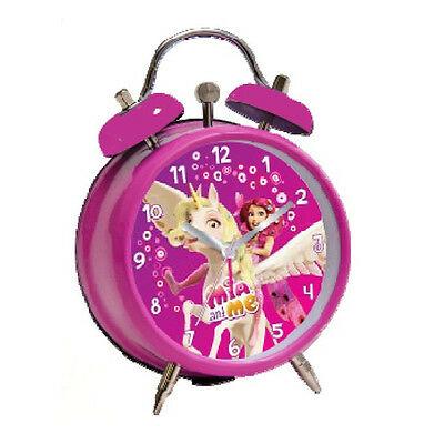 MIA E ME sveglia a doppia campana fucsia in metallo 11,5 cm da bambina
