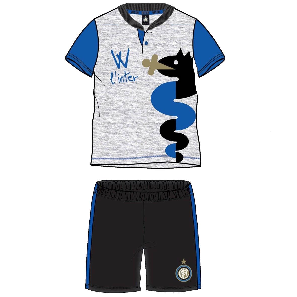 INTER pigiama corto 2 pezzi in jersey varie taglie prodotto ufficiale da bimbo