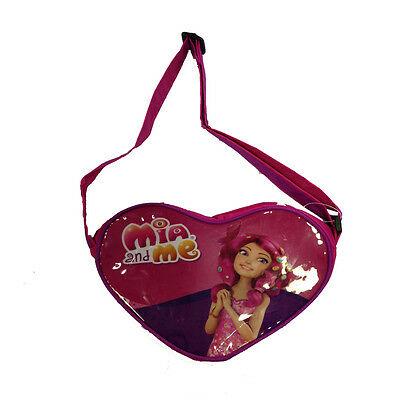 MIA E ME borsetta a forma di cuore fucsia e viola con tracolla regolabile bambin