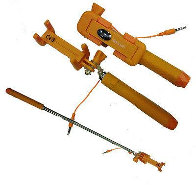 Mini Asta telescopica arancio SELFIE universale con pulsante estensibile fino 40