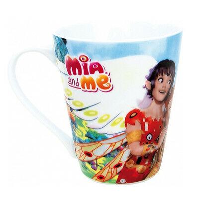 MIA E ME tazza mug in ceramica cilindrica azzurra da 350 ml (12 oz) da bambina