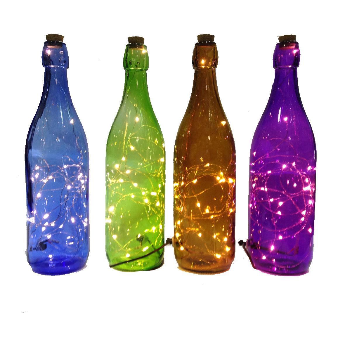 Lampa bottiglia a LED con presa USB e interruttore in vari colori idea regalo