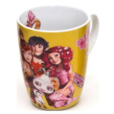 MIA E ME tazza mug in ceramica rotonda gialla da 350 ml (12 oz) da bambina
