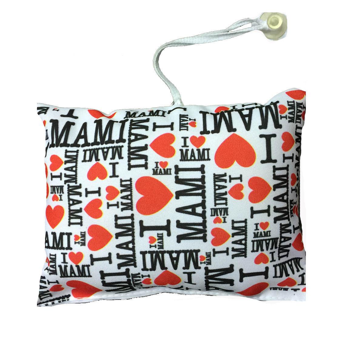 MAMMA mini cuscino auto con ventosa personalizzabile I LOVE MAMI 16,5x12,5 cm