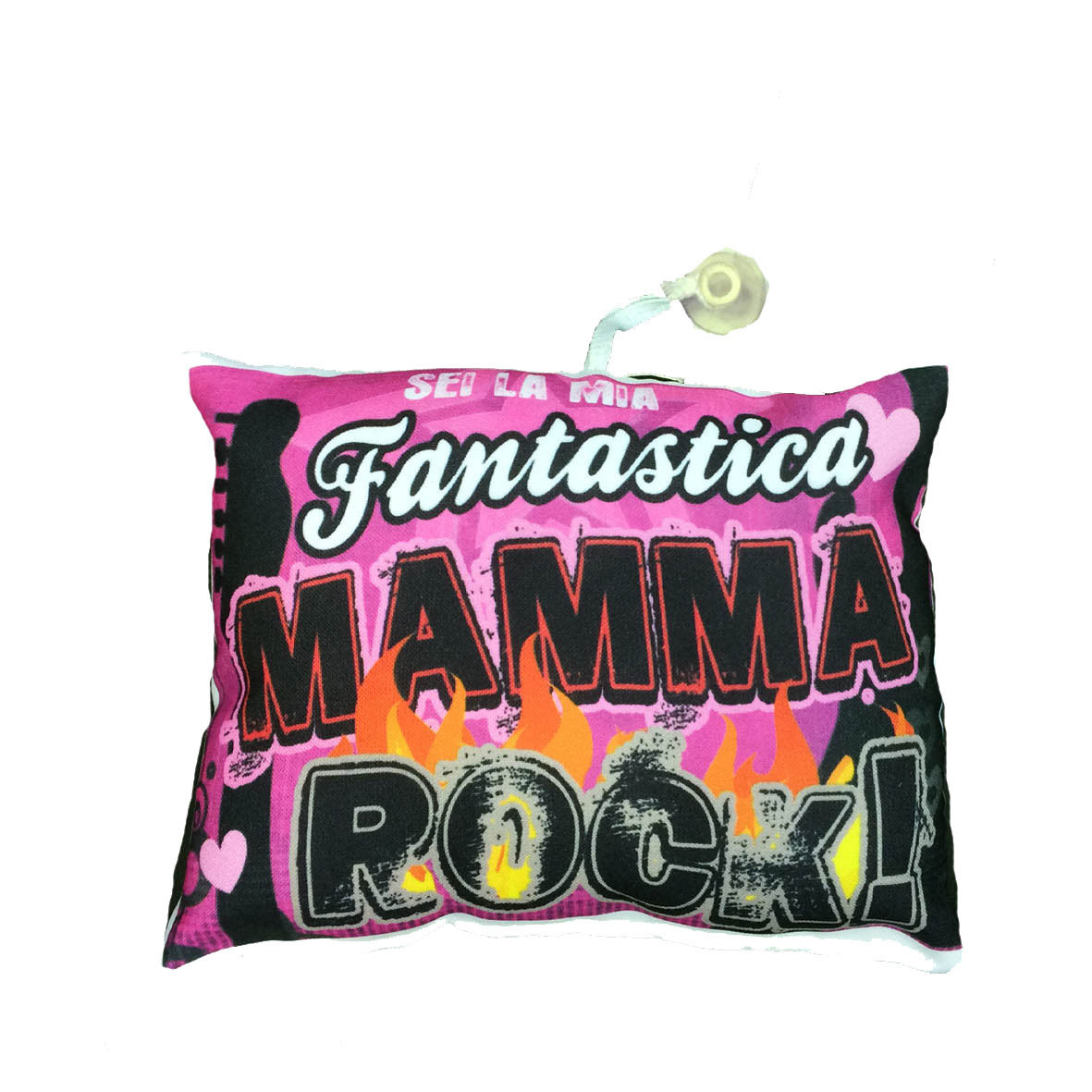 MAMMA mini cuscino auto con ventosa personalizzabile MAMMA ROCK 16,5x12,5 cm