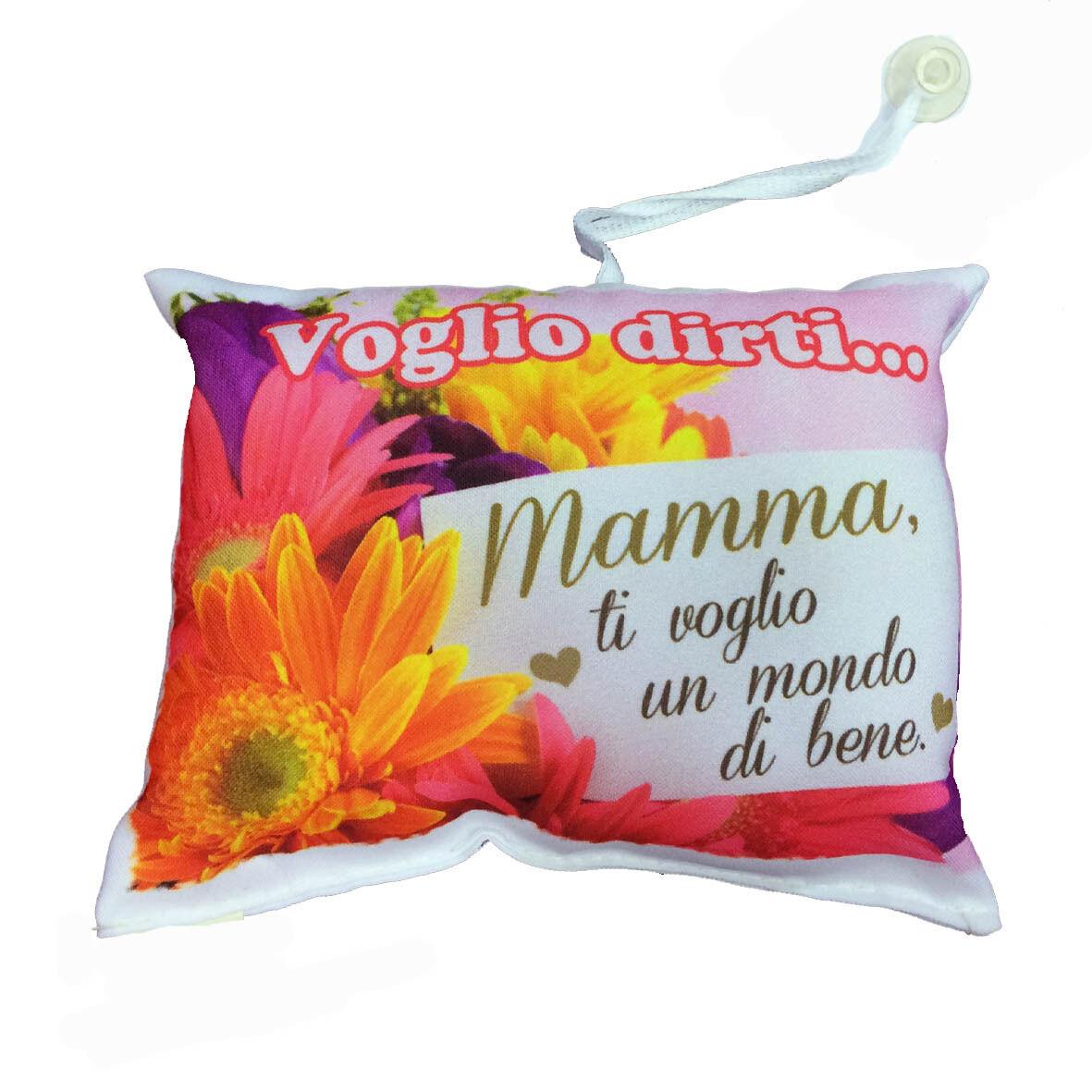 MAMMA mini cuscino auto con ventosa personalizzabile MAMMA VOGLIO ..16,5x12,5 cm