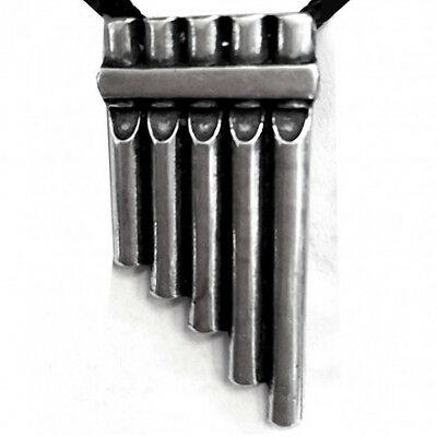 Ciondolo flauto magico in metallo con cordoncino made in italy