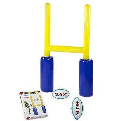 Set rugby DAL NEGRO porta gonfiabile cm.100x168 con 2 palloni gonfiabili