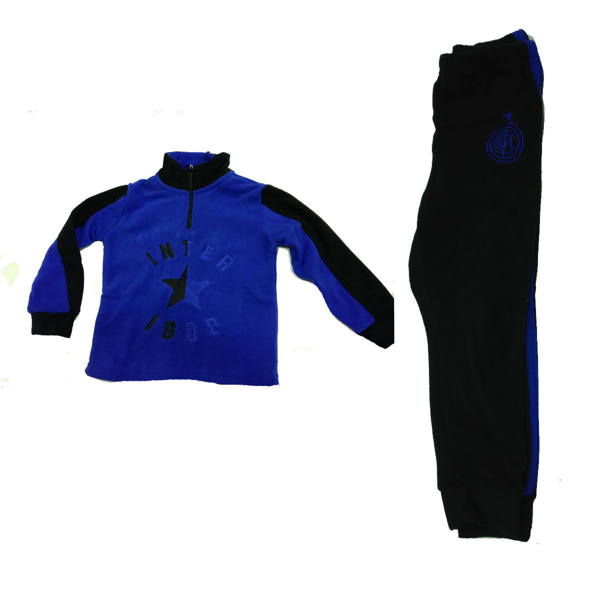 INTER pigiama lungo in morbido pile da bimbo varie taglie prodotto ufficiale