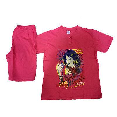 VIOLETTA pigiama corto t-shirt+pantaloncino fucsia in cotone varie taglie da bam