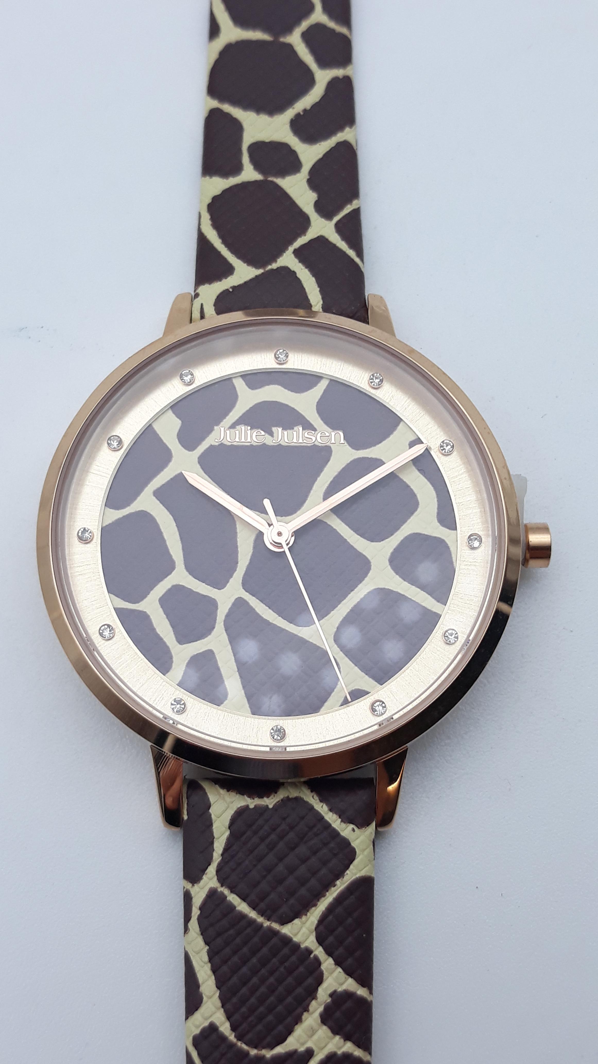 Orologio Donna Julie Julsen JJW1203RGL-G Safari Giraffe, vendita on line | OROLOGERIA BRUNI Imperia
