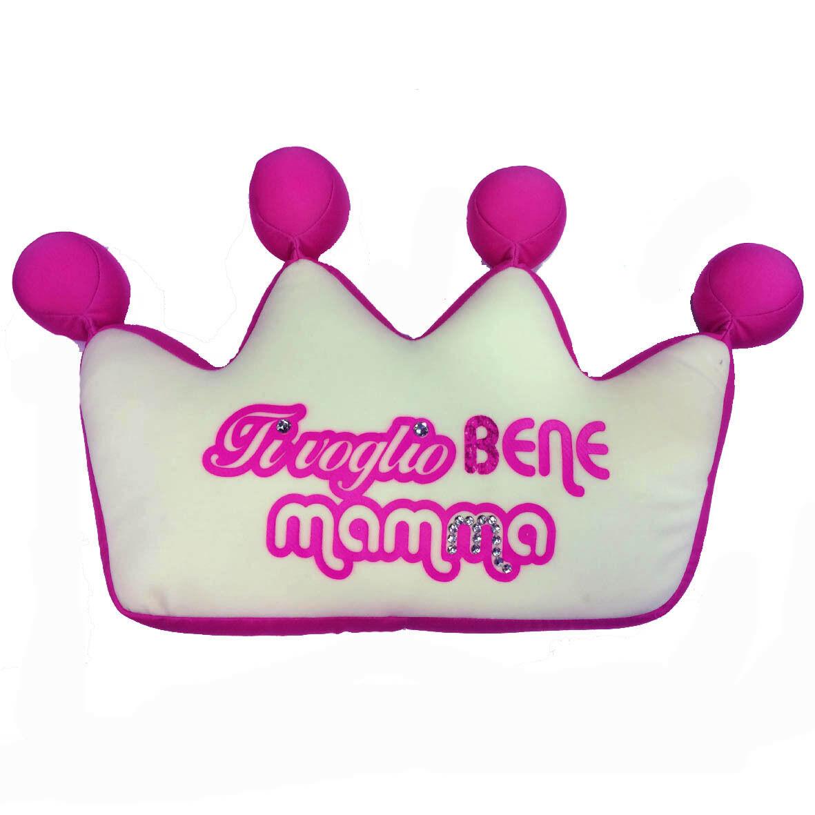 MAMMA Peluches anti-stress coroncina rosa con micropalline TI VOGLIO BENE MAMMA