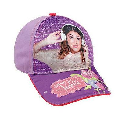 VIOLETTA cappello con visiera lilla con stampa lucida in cotone da bambina
