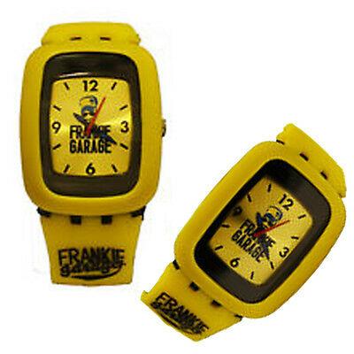 Orologio FRANKIE GARAGE nero e giallo con cinturino in gomma