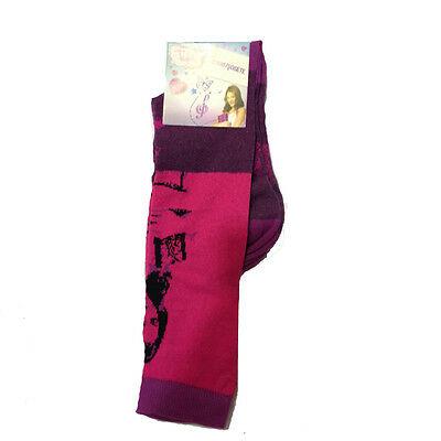 VIOLETTA calzini lunghi viola e fucsia in cotone da bambina