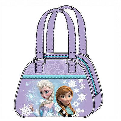 FROZEN borsa a mano in stoffa viola e stampa effetto lucido 20x15,5 cm da bambin