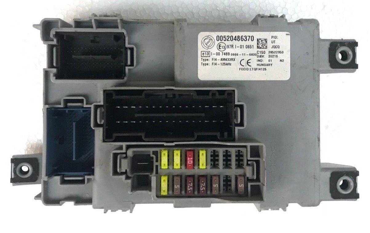 Body Computer Fiat Panda 1.2 8V Anno 2014 Codice 00520486370