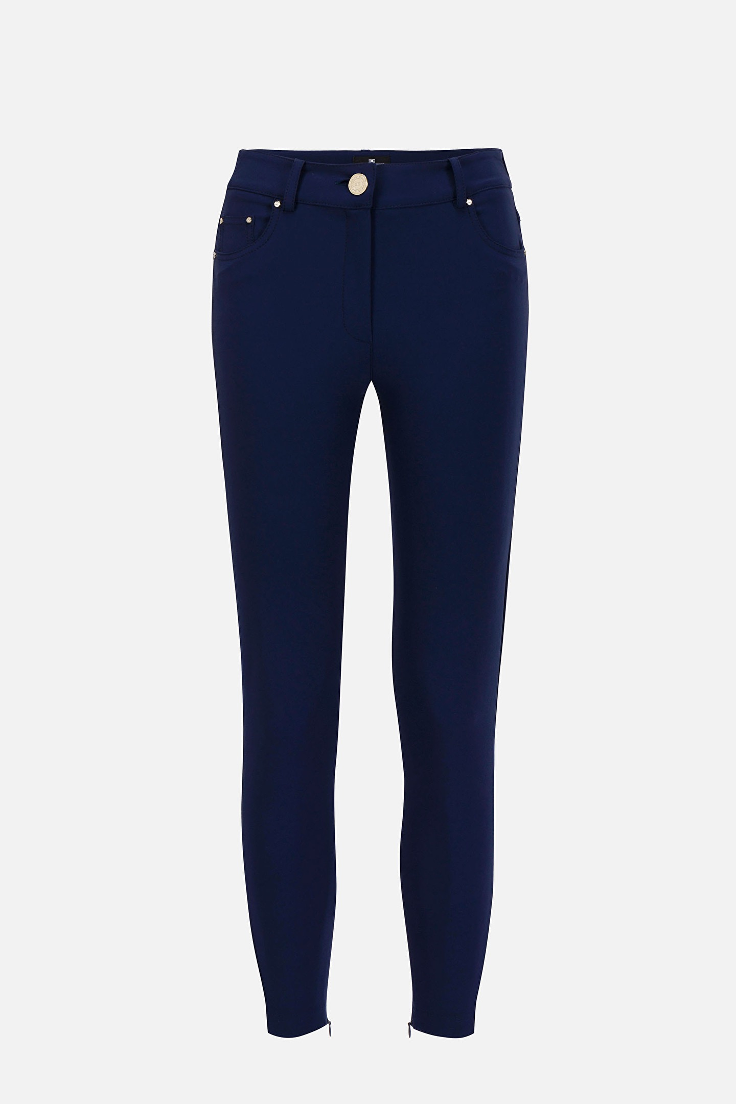 Pantalone Stretch Blu Elisabetta Franchi SS20