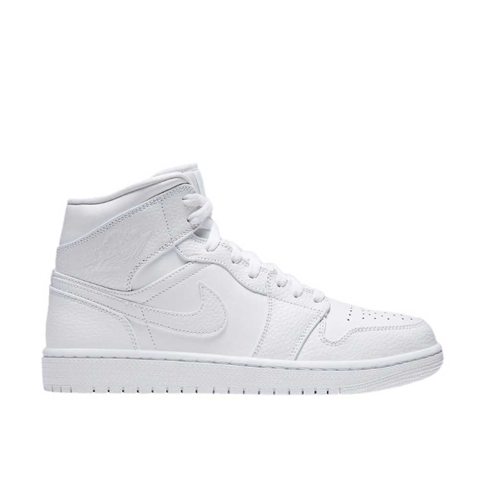 Jordan Air Mid 1 Total White Unisex