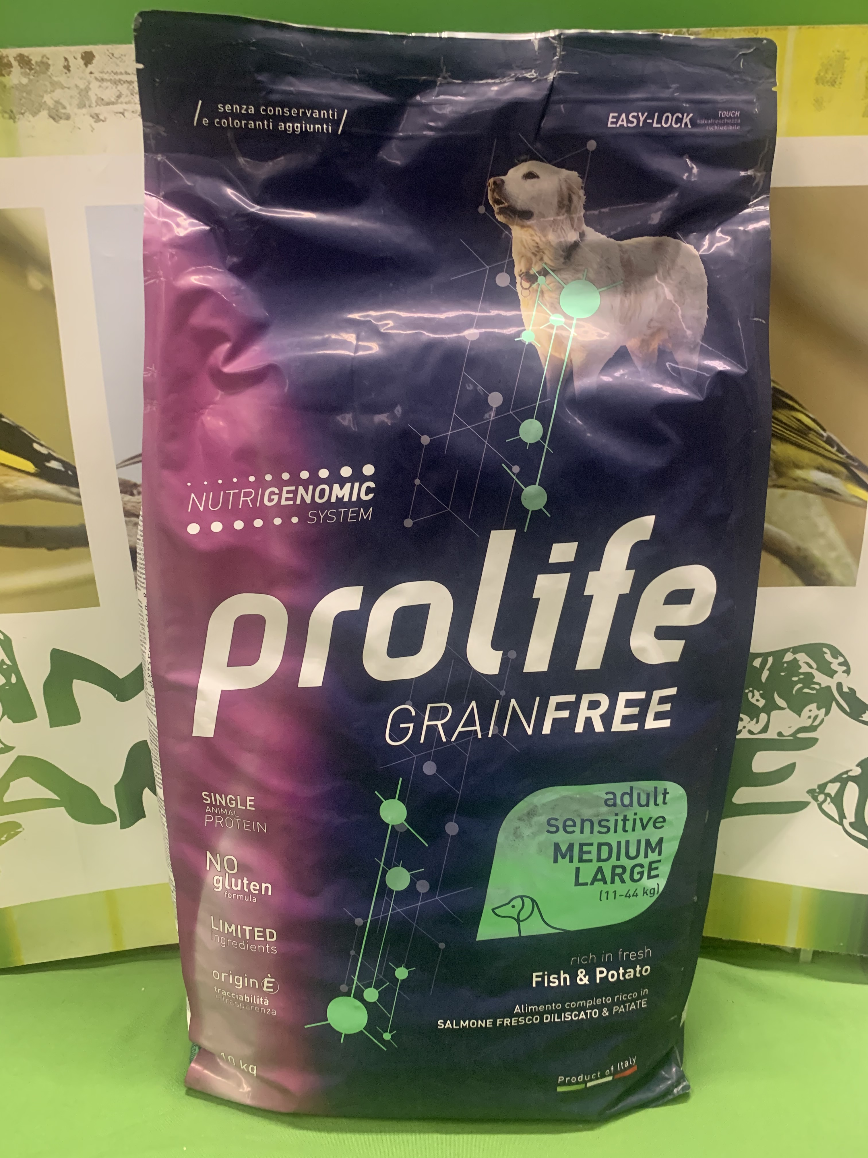 PESCE & PATATE Sensitive Medium Large Grain Free 10kg