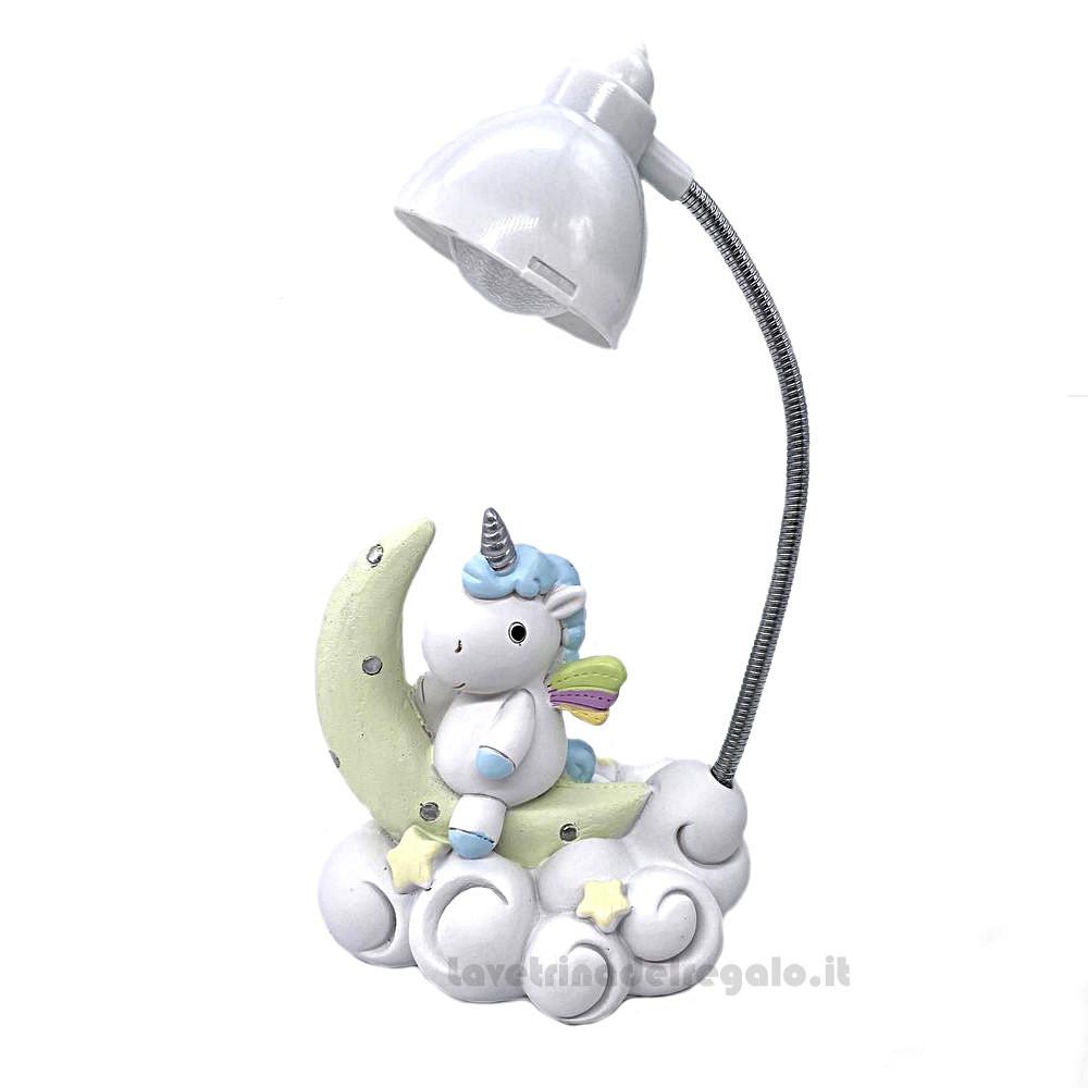 Lampada Da Tavolo Unicorno Celeste In Resina La Vetrina Del Regalo