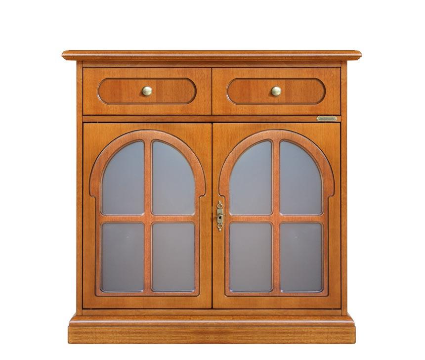 Aparador 2 puertas vitrinas resistente y duradero