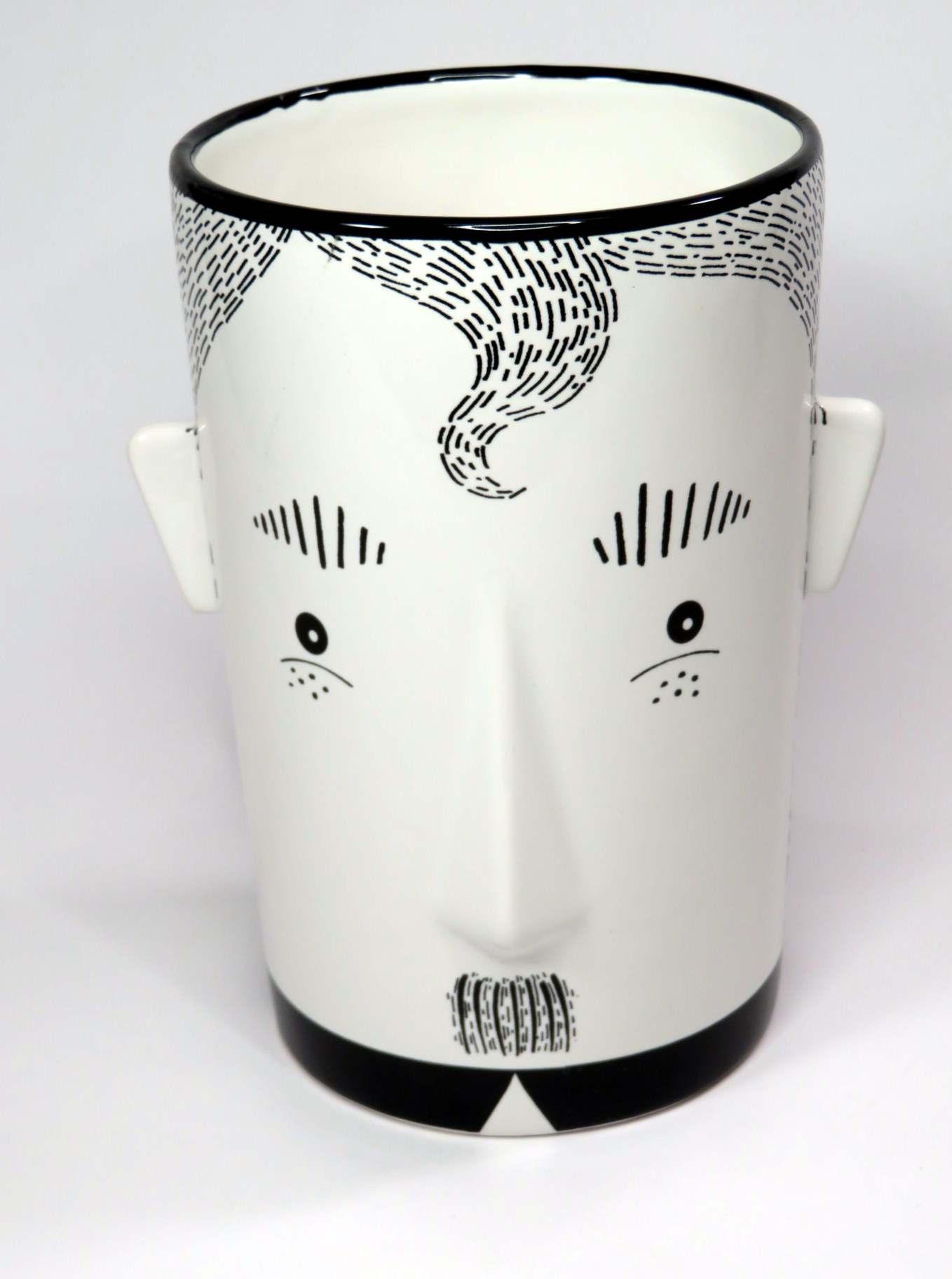 Vaso porcellana Faccia cm17