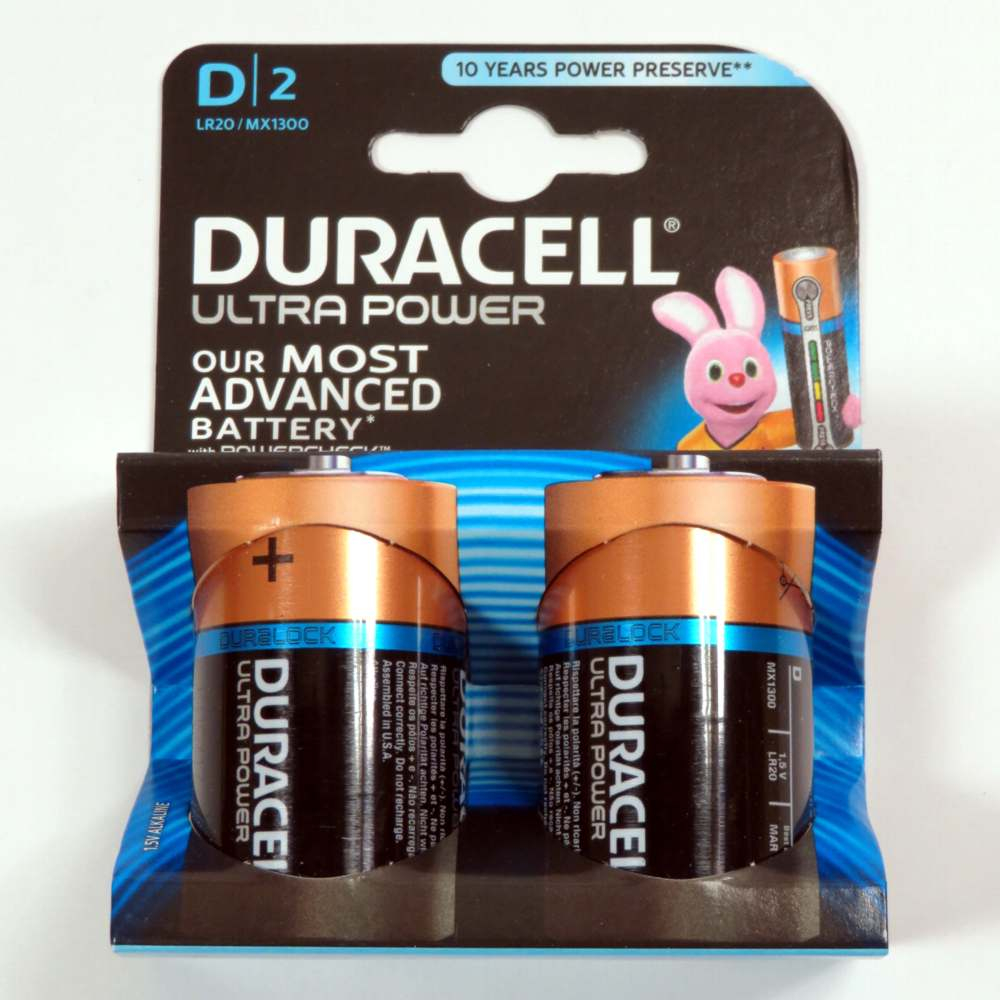 Pila torcia tipo D Duracell ultra