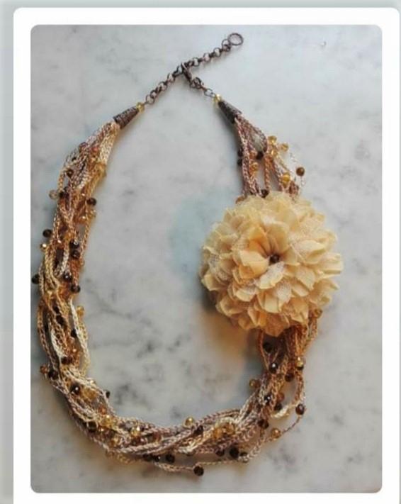 Girocollo crochet multifilo   collana handmade
