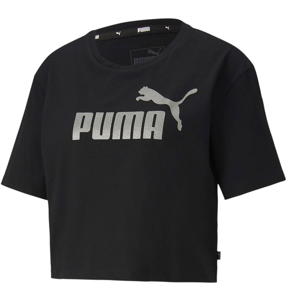 Puma Crop Top Nera da Donna