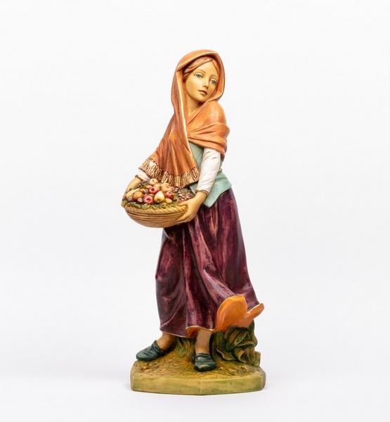 Donna con frutta cm. 65