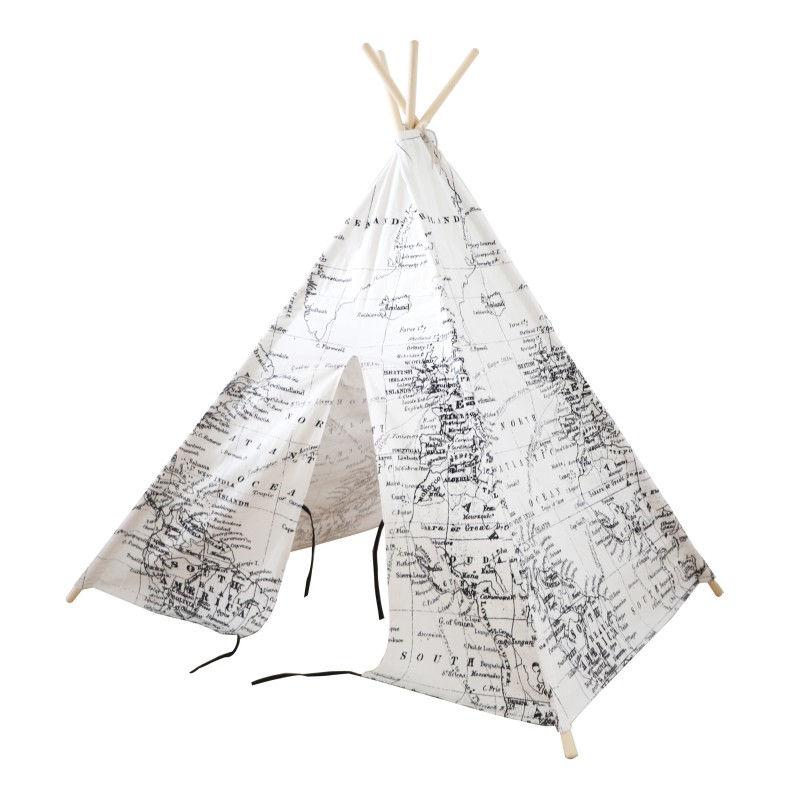 Tenda degli indiani Teepee Sunny Mappa del mondo