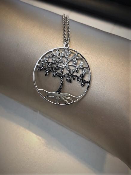 Collana in argento 925% con pendente Albero delle Vita