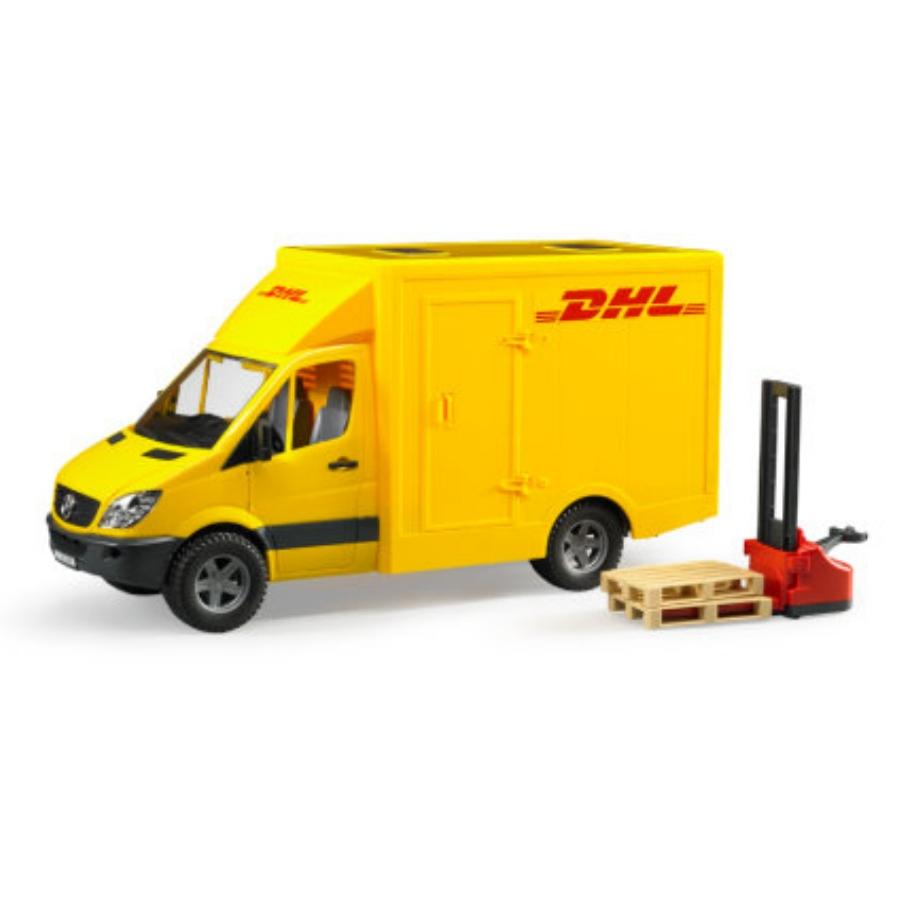 BRUDER 02534 - Bruder sprinter DHL mercedes benz con transpallet manuale 2534