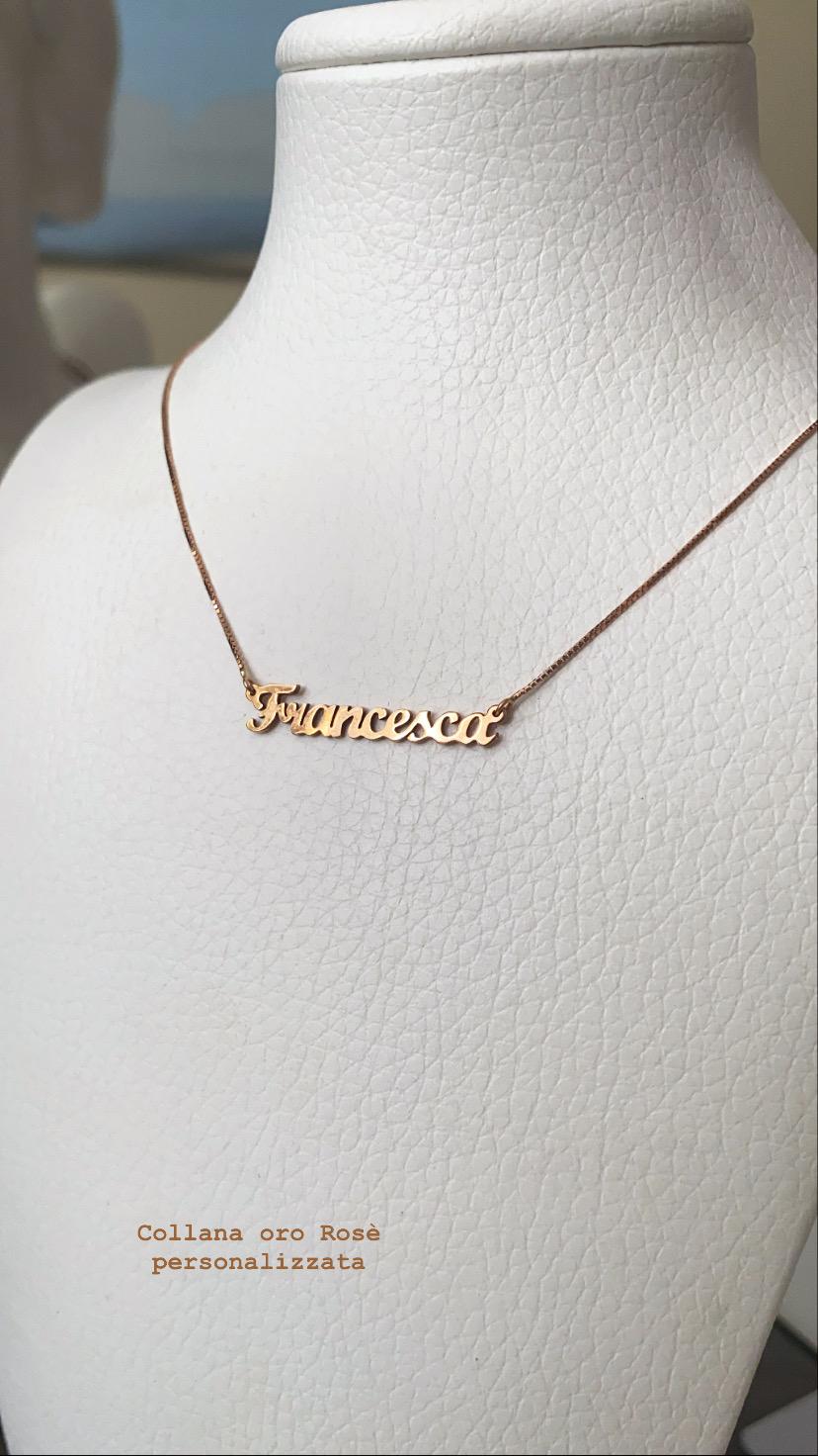 Collana oro personalizzabile con nome