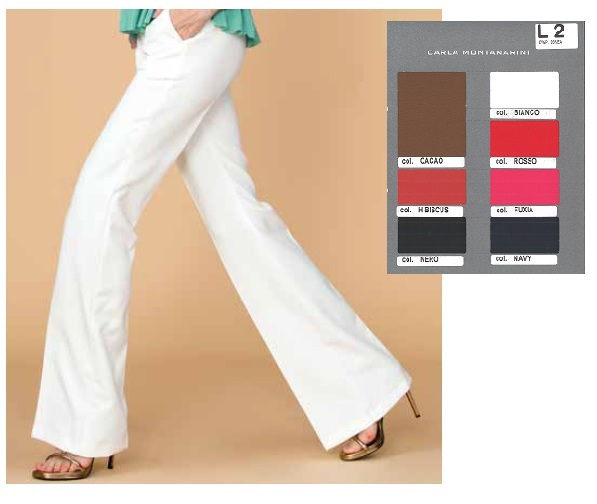 Pantalone zampetta e tasche