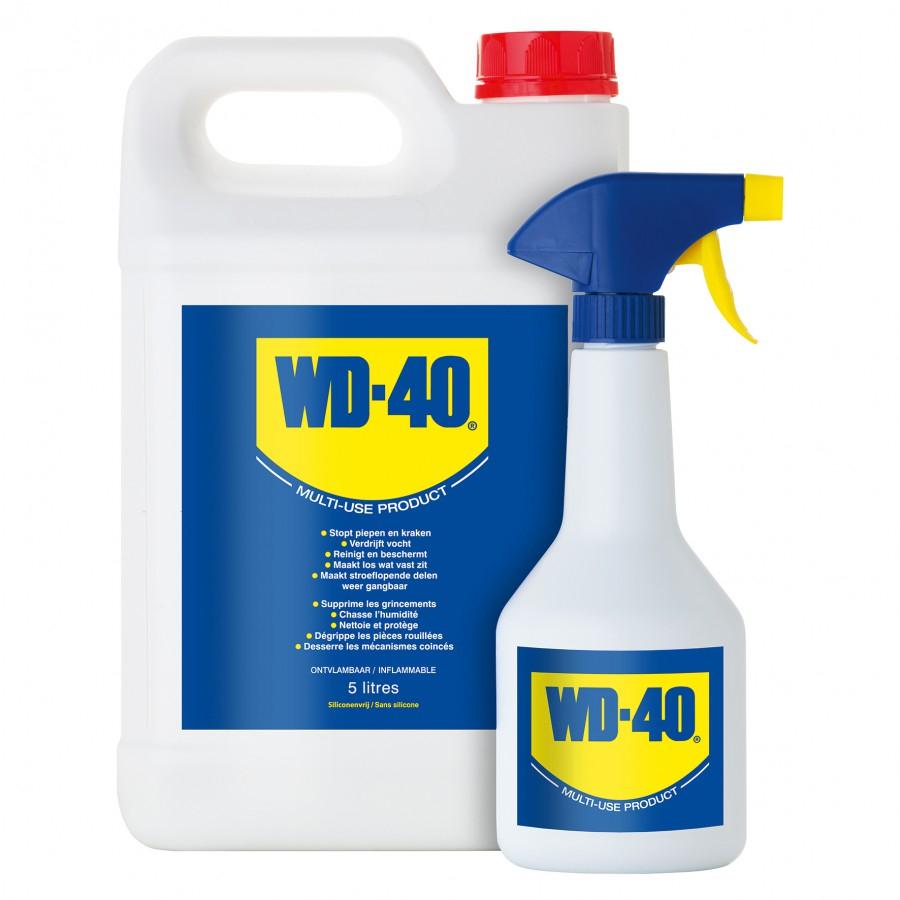 WD40 LUBRIFICANTE SPRAY MULTIUSO - Tanica da 5 Litri + Vaporizzatore