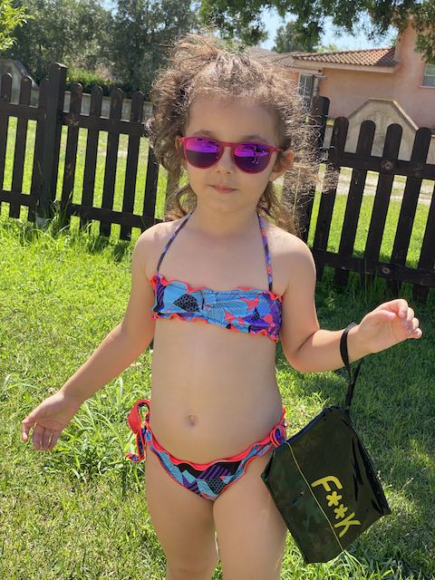 Bikini fascia e slip nodi Melting Pot Effek Junior