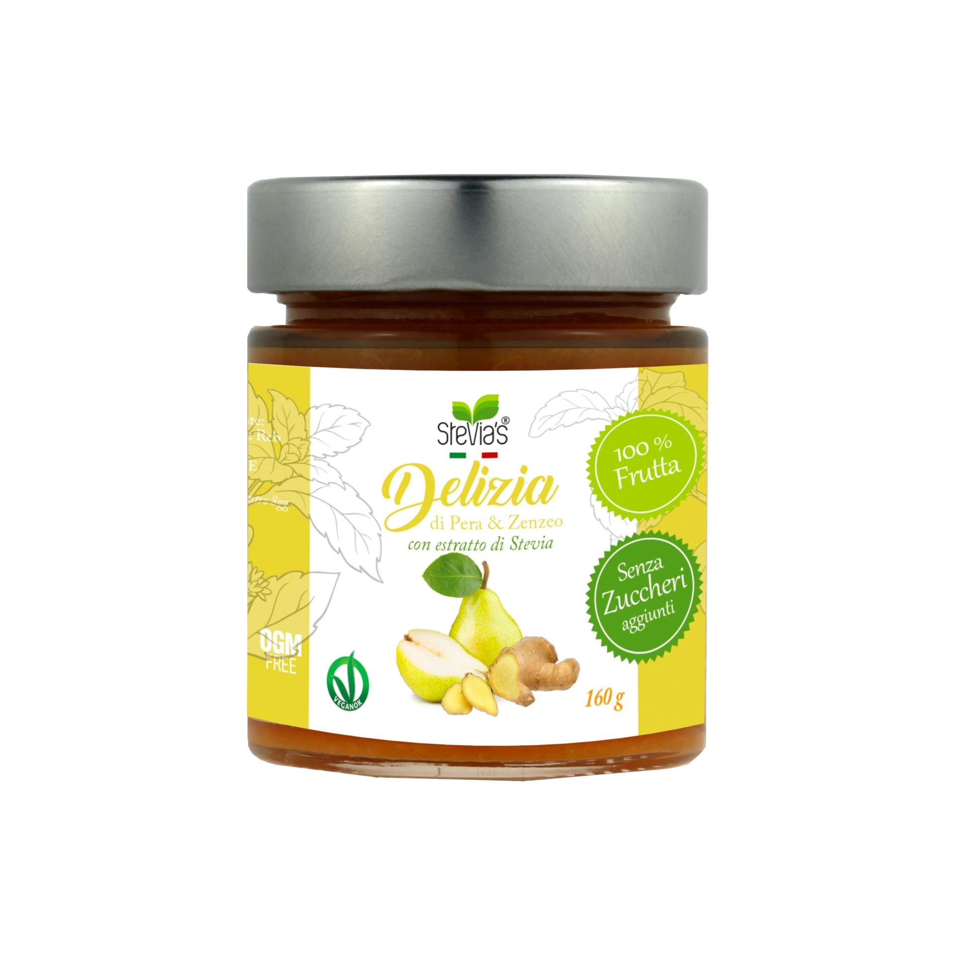 Composta di Pera & Zenzero - Con estratto di Stevia senza zuccheri aggiunti