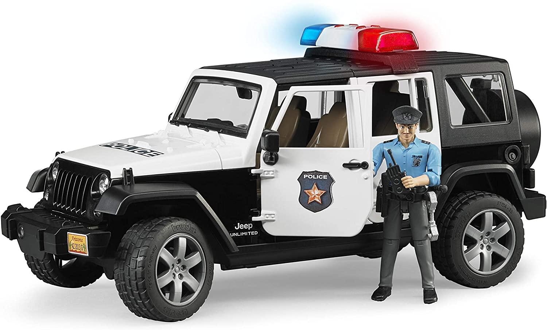 BRUDER 02526 - Wrangler RUBICON Police + Lampeggianti (02802)