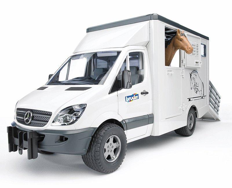 BRUDER 02533 - Mercedes Benz Sprinter + Cavallo Marrone (02306)