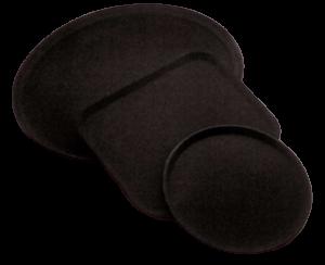 Tablett camtray fiber schwarzrechteckig (6stck)