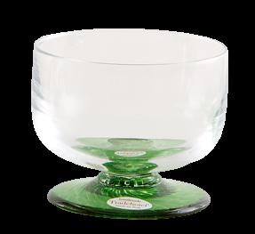 Coppa vetro soffiato graniglia verde smeraldo (6pz)