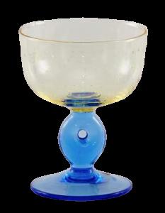 Eis Gläser Gelb Cornflowerblau (6stck)