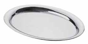 Oval stainless steel tray (1pcs)