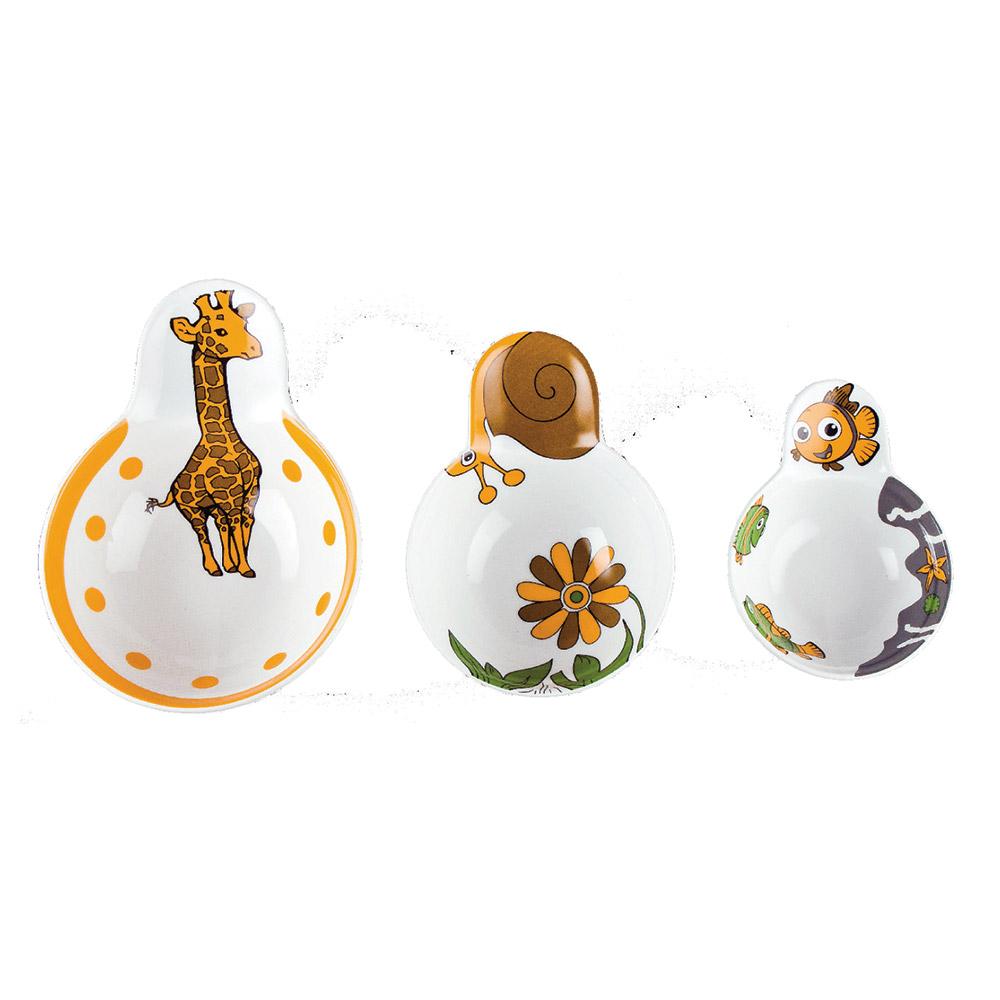 Coppette porcellana monoporzioni per bambini (12pz)