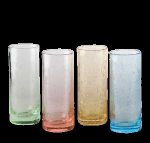 Bicchieri vetro colorato (12pz)