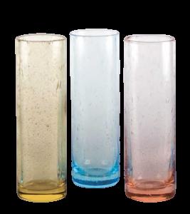 Gelb Hellblau oder Pink Milchshake-Glas(6stck)