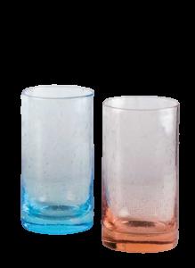 Hellblau oder Pink Milchshake-Glas(6stck)